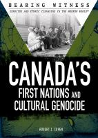 Canada's First Nations and Cultural Genocide