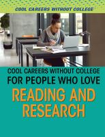 Cool Careers Without College for People Who Love Reading and Research