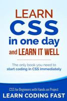 Learn CSS in One Day and Learn It Well