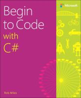 Begin to Code With C♯