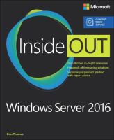 Windows Server 2016 Inside Out