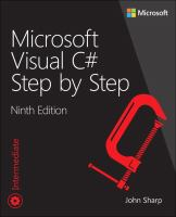 Microsoft Visual C♯ Step by Step