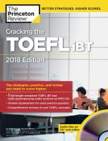 Cracking the TOEFL IBT [includes Audio CD]