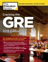 Cracking the Gre With 4 Practice Tests 2019