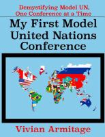 My First Model United Nations Conference