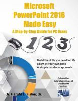Microsoft PowerPoint 2016 Made Easy