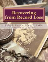 Recovering From Record Loss :a Research Guide