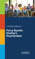 A Study Guide for Percy Bysshe Shelley's Ozymandias
