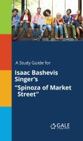 """A Study Guide for Isaac Bashevis Singer's """"spinoza of Market Street"""""""