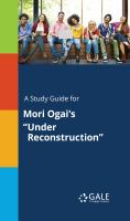 """A Study Guide for Mori Ogai's """"under Reconstruction"""""""