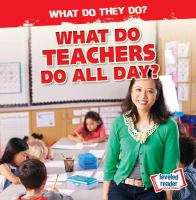 What Do Teachers Do All Day?