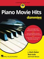 Piano Movie Hits for Dummies