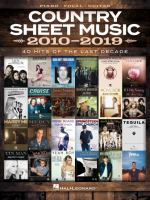 Country Sheet Music 2010-2019