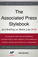 The Associated Press Stylebook 2018 and Briefing on Media Law