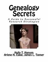 Image: Genealogy Secrets : A Guide to Successful Research Strategies
