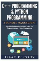 C++ and Python Programming