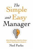 The Simple and Easy Manager