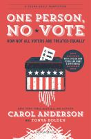 Cover of One Person, No Vote: How N