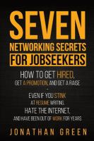 Seven Networking Secrets for Jobseekers