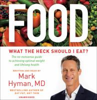 Food : What the Heck Should I Eat? - Library Edition (Audiobook on CD)