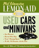 Lemon-aid Used Cars And Minivans, 2005-06