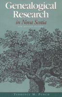 Genealogical Research in Nova Scotia