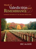 Words of Valediction and Remembrance