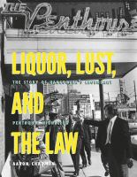 Liquor, Lust, and the Law