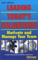 Leading Today's Volunteers