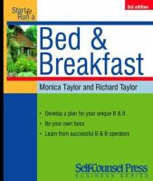 Start and Run A Profitable Bed and Breakfast