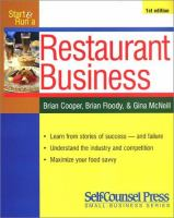 Start and Run A Profitable Restaurant