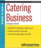 Start and Run A Catering Business