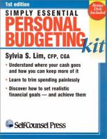 Simply Essential Personal Budgeting Kit