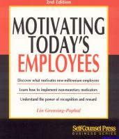 Motivating Today's Employees