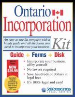 Ontario Incorporation Kit