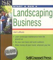 Start & Run A Landscaping Business