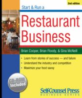 Start and Run A Restaurant Business