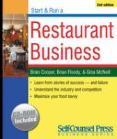 Start and Run A Restaurant Business