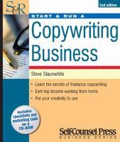 Start and Run A Copywriting Business