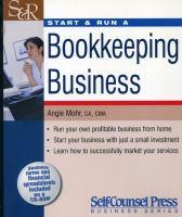 Start & Run A Bookkeeping Business