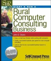 Start & Run A Rural Computer Consulting Business