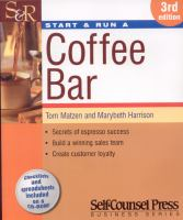 Start & Run A Coffee Bar
