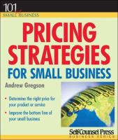 Pricing Strategies for Small Business