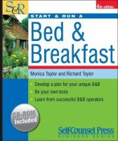 Start and Run A Bed and Breakfast
