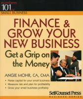 Finance & Grow your New Business