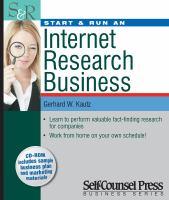 Start & Run An Internet Research Business