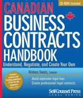 Canadian Business Contracts Handbooks