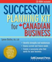 Succession Planning Kit for Canadian Business
