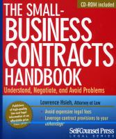 The Small-business Contracts Handbook