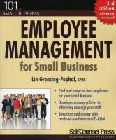 Employee Management for Small Business